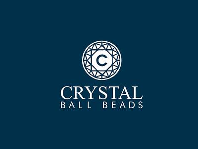 CRYSTAL Ball Beads ui minimal icon logo branding brand identity brand design logo design logo folio