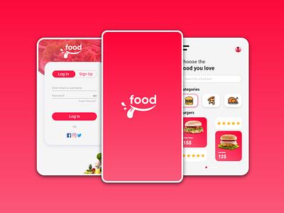 Food App app design logo folio uiux user interface food app food food app ui