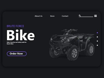 Beach Bike design brand identity logo folio website app design apple web design uiux ui beach bike