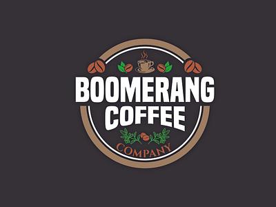 Bommerang Coffee coffee cup coffee icon logo logo design brand design logo folio brand identity branding
