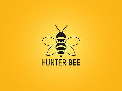 HunterBee icon logo design logo brand design brand identity logo folio branding hunter bee bee