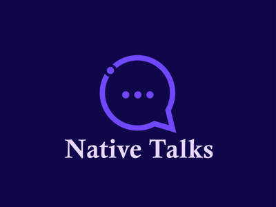 Native Talk app design ui minimal icon logo logo design branding brand design brand identity logo folio