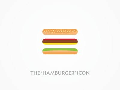 Hamburger Icon navigation design ios mobile hamburger nav icon ui interface gui user interface ux user experience illustration menu web minimal