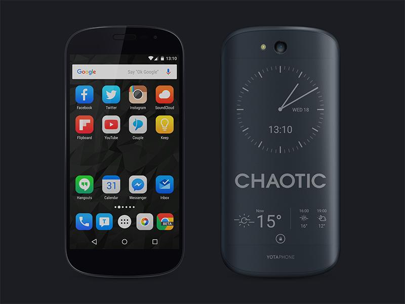Yotaphone 2 Black PSD free phone psd gloss lighting texture gradient realistic e-paper yotaphone device mobile