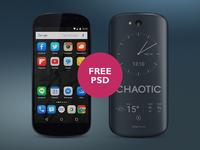 Yotaphone 2 Black PSD mobile device yotaphone e-paper realistic gradient texture lighting gloss psd phone free