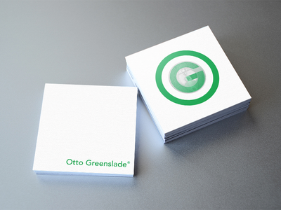 Otto Greenslade Business Card 01 branding logo graphic design graphics typography lettering identity logotype nfc minimal business card