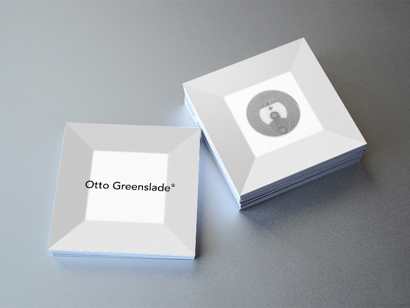 Otto Greenslade Business Card 02 business card minimal nfc logotype identity lettering typography graphics graphic design logo branding