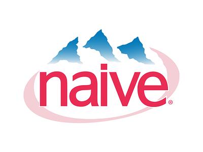 Naive Evian logo identity branding typography logotype lettering mark wordmark graphics graphic design naive evian