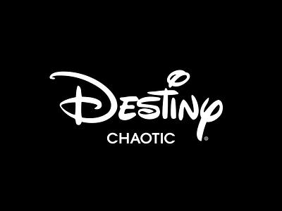 Chaotic Does Disney graphic design graphics branding hijack logo destiny disney