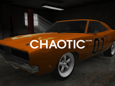 Chaotic Racing - Twitch Channel advertising driving music racing chaotic twitch car logo branding