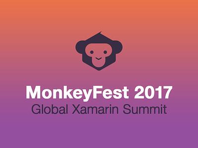 MonkeyFest Branding microsoft gradient logo branding xamarin developer monkey