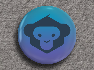 Monkey Fest Developer Badge 01 monkey developer microsoft xamarin branding logo gradient