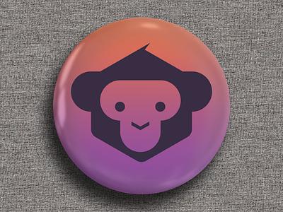 Monkey Fest Developer Badge 02 monkey developer microsoft xamarin branding logo gradient