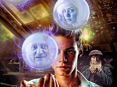 Book cover for E. Lukin's 'Portrait of a magician in his youth' photoshop digital manipulation book cover fantasy russian