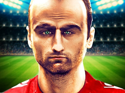 Photorealistic caricature of Berbatov, WIP caricature digital manipulation photo manipulation soccer berbatov kampion wip