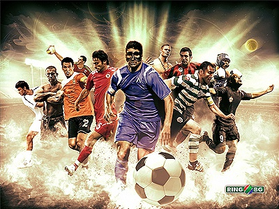 Soccer League Start Broadcasting - RingTV photoshop digital manipulation soccer tv bulgaria league composite photo manipulation