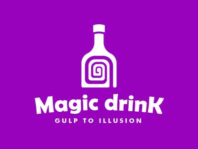 Gulp to Illusion🌀🍷 magicdrink meaningfullogo meaningfullogos meaningful wiitty logodesigner logodesign design logo