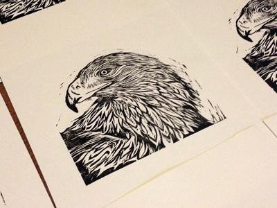 Eagle Linocut