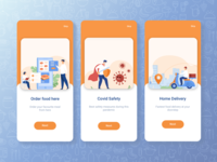 Delicious- Food delivery app simple and clean design fastest delivery safe delivery flat design ux ui app design food delivery app online food order food delivery delivery app food app