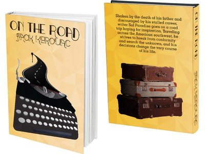 On The Road Book Cover Design