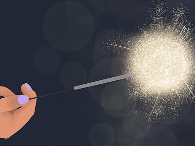 Happy Light procreate minimal flat vector illustration design
