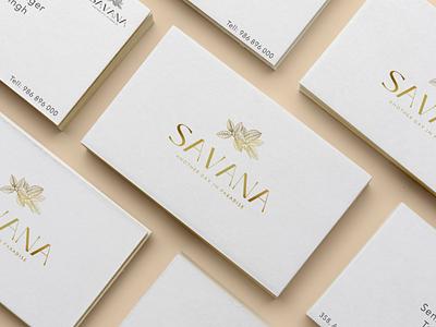 Savana resorts graphic design logo 3d branding
