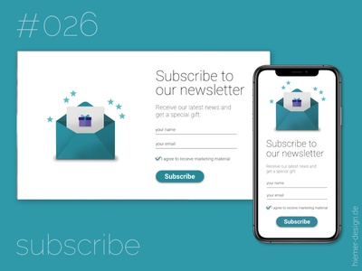 DailyUI 026 - version B dailyui 026 dailyui026 daily ui 026 newsletter subscriptions newsletter subscribe form subscribe form subscribe webdesign app uidesign uidesigner dailyuichallenge daily 100 challenge dailyui