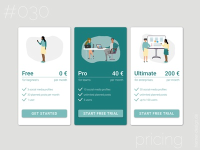 DailyUI 030 illustrations pricing overview daily ui 030 dailyui 030 dailyui030 social media planner pricing plan pricing table pricing page webdesign daily ui dailyui uidesign dailyuichallenge uidesigner daily 100 challenge