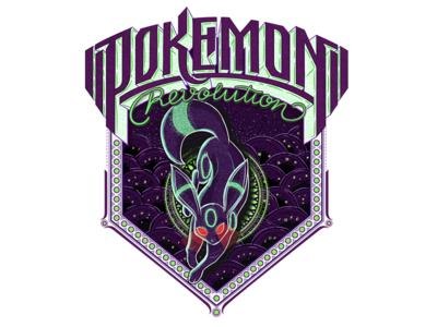 Pokemon Revolution textlogo biks logo. lettering typography logotype biksence