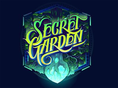 Secret Garrden  textlogo biks logo. lettering typography logotype biksence
