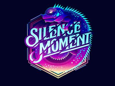 Silence Moment custom textlogo biks logo. lettering typography logotype biksence