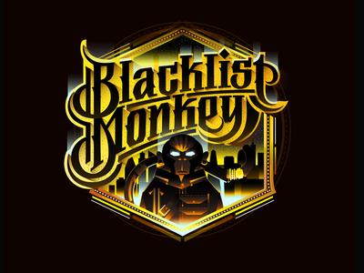 Blacklist Monkey animalista custom textlogo biks logo. lettering typography logotype biksence