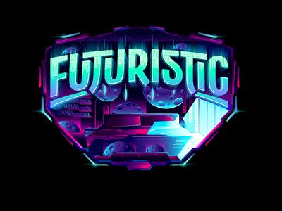 Futuristic futuristic custom textlogo biks logo. lettering typography logotype biksence