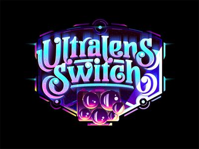 Ultralens Switch futuristic custom textlogo biks logo. lettering typography logotype biksence