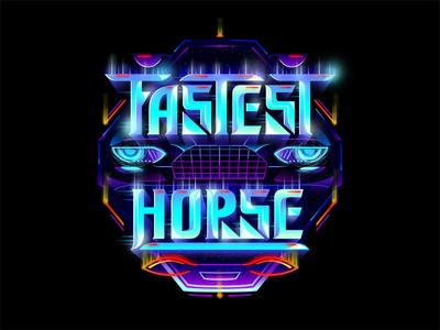 Fastest Horse futuristic custom textlogo biks logo. lettering typography logotype biksence