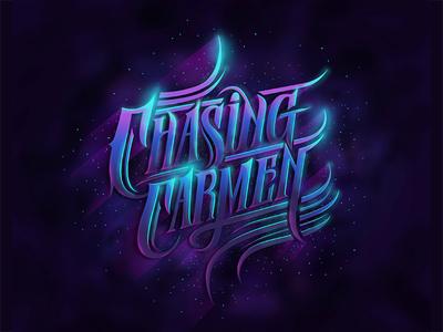 Chasing Carmen custom textlogo biks logo. lettering typography logotype biksence