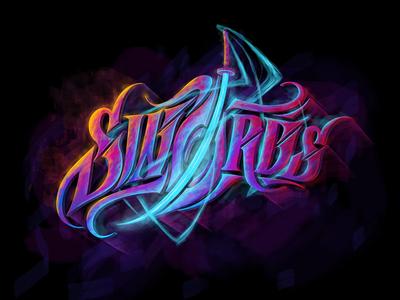 Swords custom textlogo biks logo. lettering typography logotype biksence