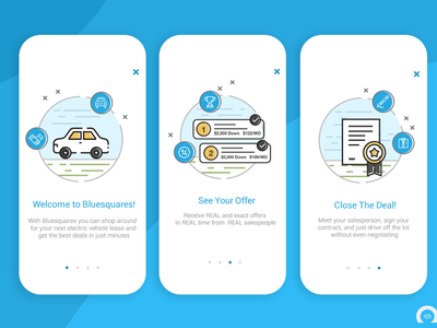 Blue Squares Car Leasing-Mobile APP mobiledesign design uiuxdesign uiux mobile ui servicebooking application servicebookingapp servicebookingapp carleasingapp app design mobileapp mobileappdesign