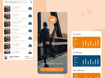SWF Fitness Application Design. app design mobiledesign uiuxdesign adobe xd designer adobe xd design adobe photoshop adobe xd flutter app development mobile ui ux mobile app design mobile app