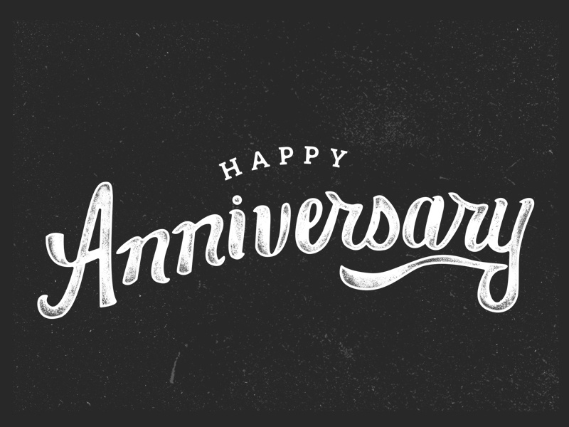 happy anniversary anniversary greeting card print typography lettering hand drawn happy