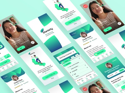 Starterly App Screens ux ui design