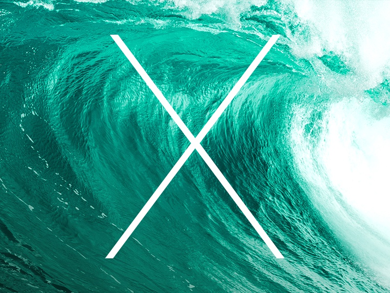 Mac OS X 10.9 apple os os x x 10.9 mac macintosh wave green wallpaper keynote moscone center free