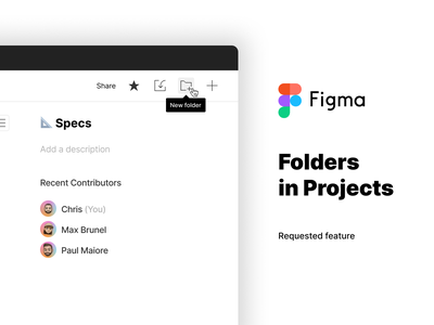 Figma requested feature: Folders in Projects organize project design app folder soft feature request figma