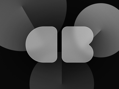Exploration・Personal branding circle letter minimal big sur black grey minimalist typography b c reflexion exploration branding