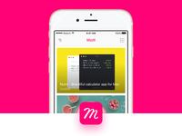 Muzli iOS app (Concept iPhone)