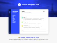 French Designers Club  —  Sidebar Theme Code for Slack