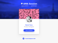 AMA Session with Kevin Tunc at 19:00 (CEST) - 15.06.2016