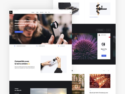Pixter 📱📸 accessories smartphone fullwidth photography minimal redesign iphone clip camera webdesign