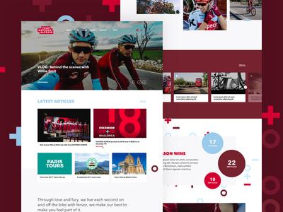 Team Katusha Alpecin 🇨🇭 🚴 - Homepage homepage team bike cycling minimal webdesign art direction refresh redesign katusha