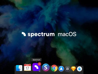 Spectrum Chat 💬 — macOS app icon community application web app chat spectrum icon app app icon macos